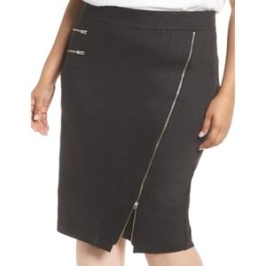 🆕 Sejour Plus Size Zipper Ponte Pencil Skirt